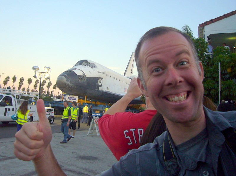 Photobomb the Space Shuttle