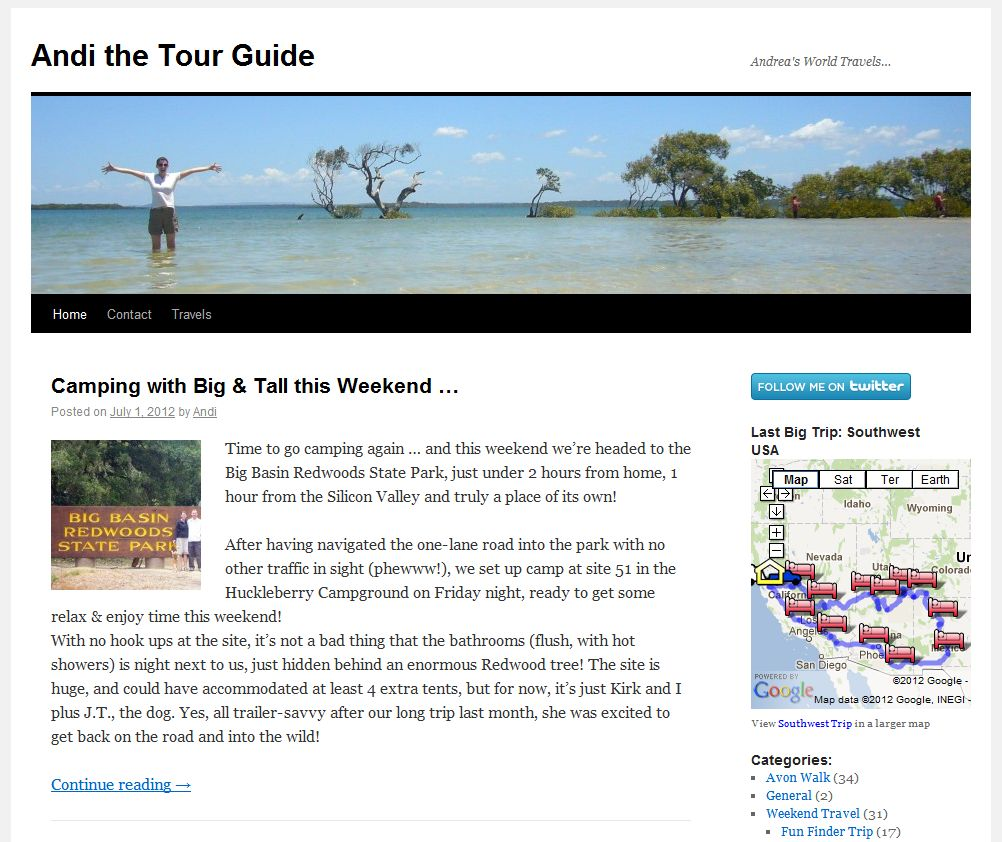 Follow Our Travels at AndiTheTourGuide.com