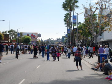 Looking down Crenshaw Blvd