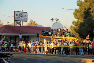 Crowds and burgers