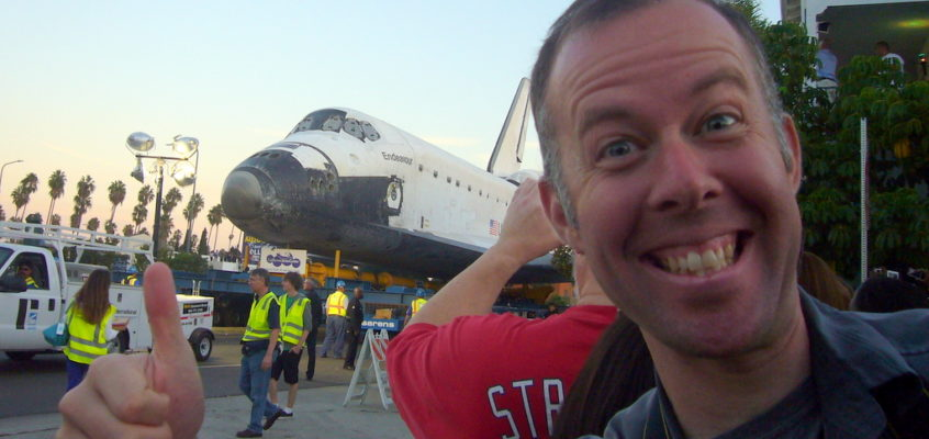 Space Shuttle Endeavour Rolls Through the Streets of LA