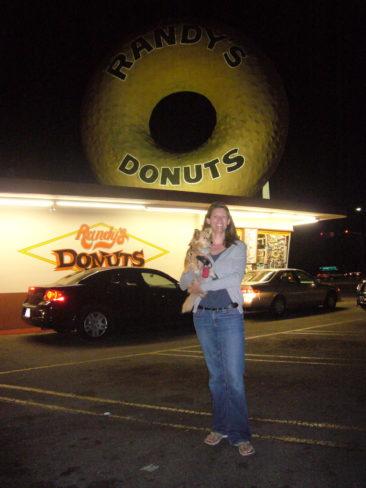 Andrea, JT, a BIG donut...