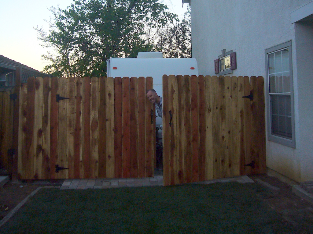 I Built a Driveway Gate for our Side Yard