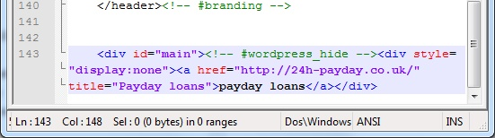 Argh! WordPress Payday Code Injection Hack – How I Fixed It