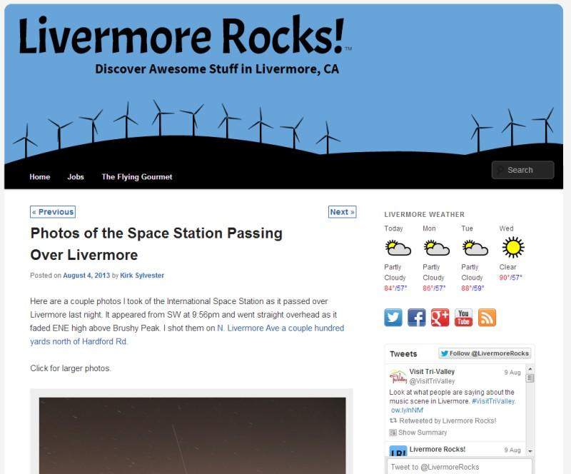Livermore Rocks!: 30 Day Blog Challenge (Day 6)