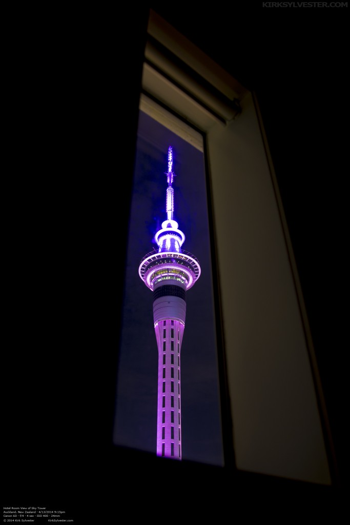 Sky Tower Through the Window (Photo by Kirk Sylvester)