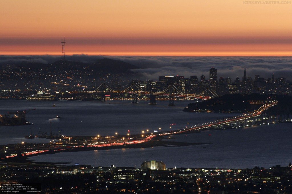 Evening Fog Over the City (Photo by Kirk Sylvester)