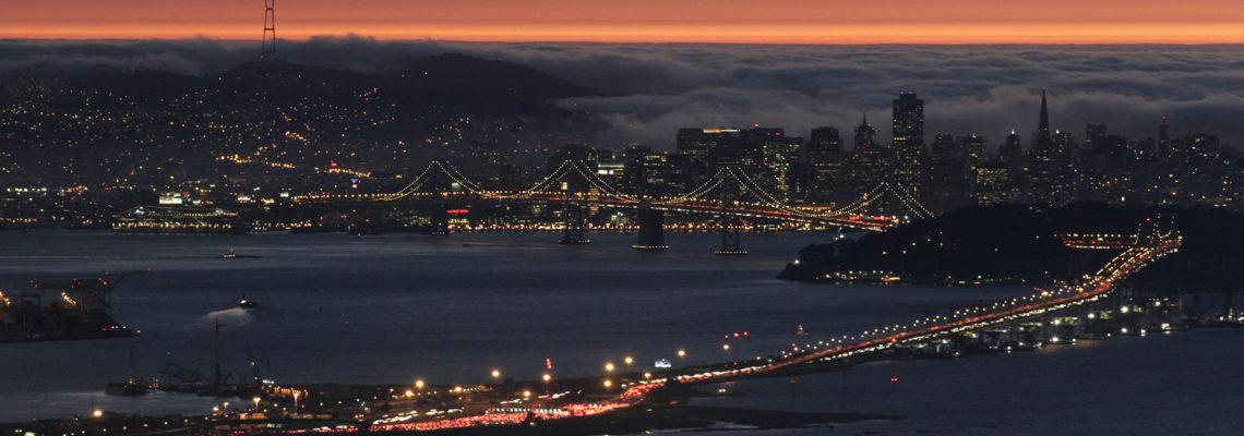 Evening Fog Over the City