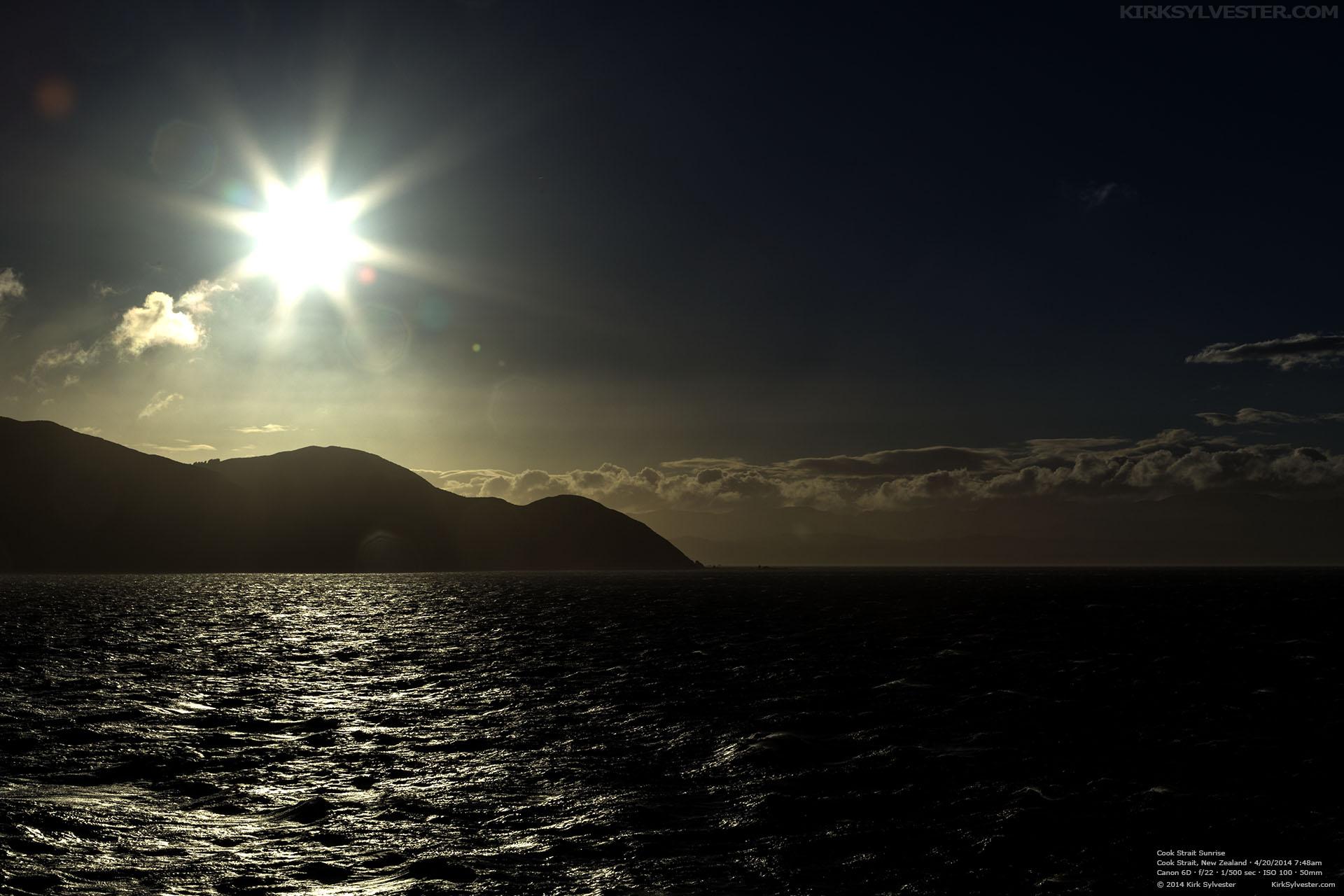 Cook Strait Sunrise (Photo by Kirk Sylvester)