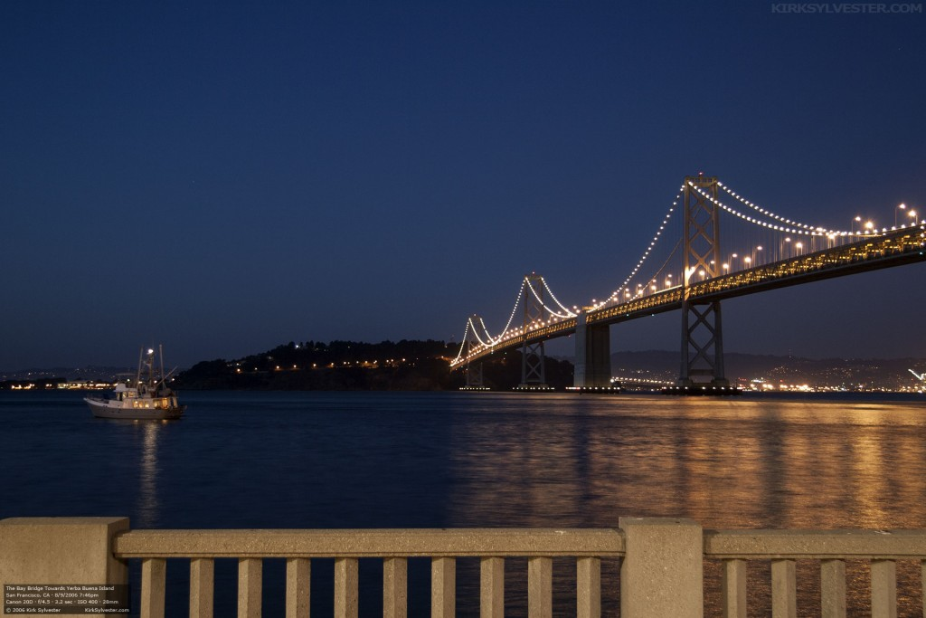 The Bay Bridge to Yerba Buena Island (Photo by Kirk Sylvester)