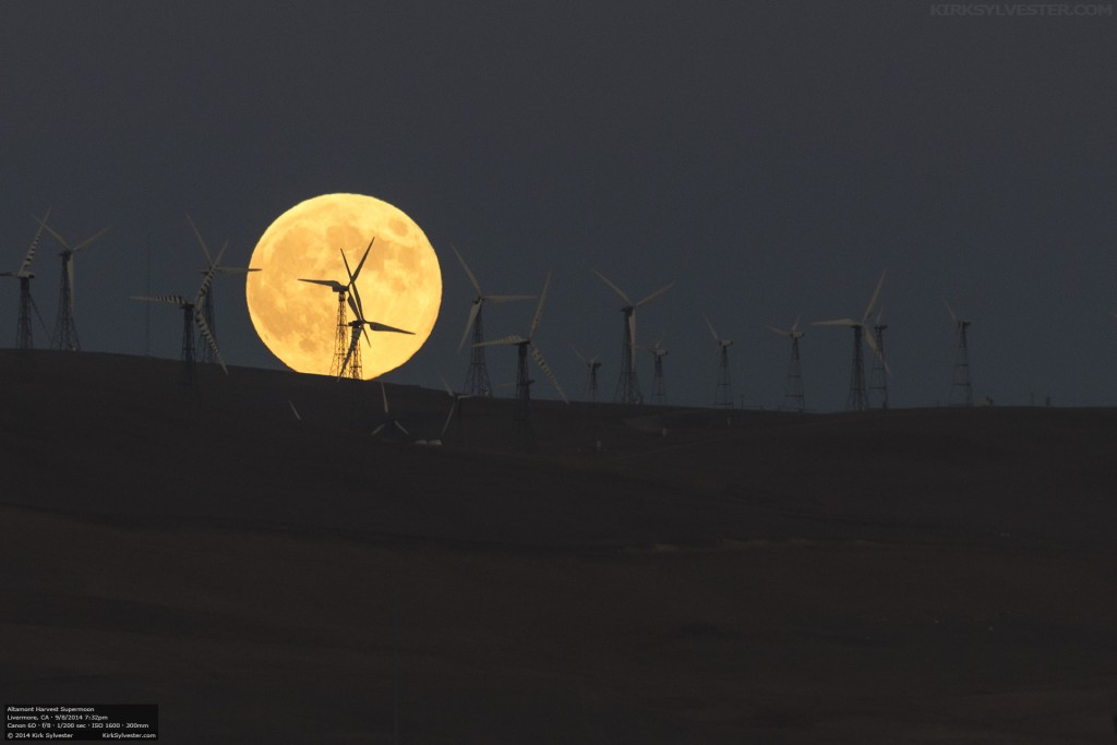 Altamont Harvest Supermoon (Photo by Kirk Sylvester)