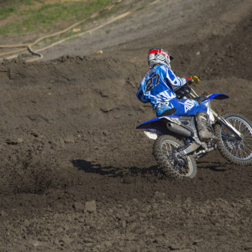 Dirt bike action.