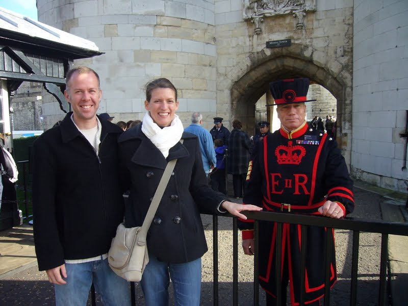 Kirk, Andrea & a Beefeater